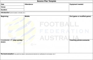 Coaching Plan Template | Coaching Resources Northern Nsw Football