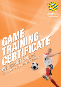 Game Training Certificate Participant Manual