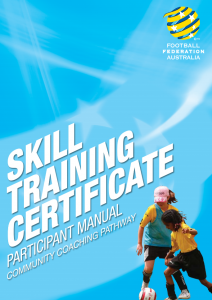 Skill Training Certificate Participant Manual