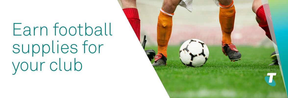 Earn football supplies for your club