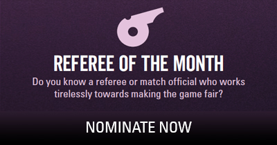 Referee of the Month